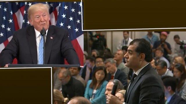Trump Kürt gazeteciye 'Bay Kürt' dedi