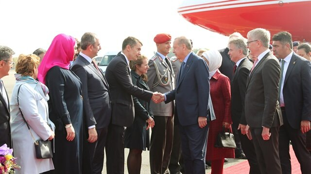 President Erdoğan arrives in Germany for state visit