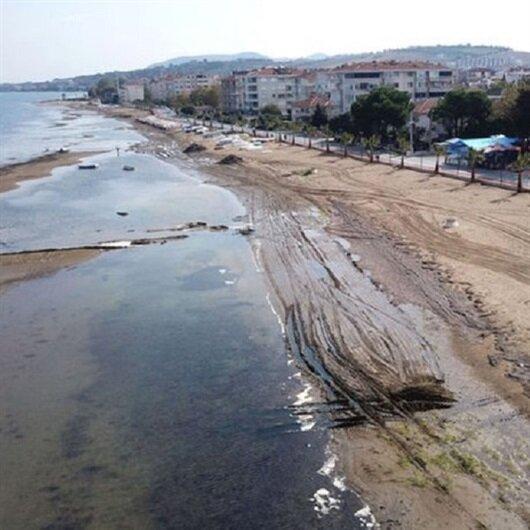Yalova'da korkutan görüntü: Deniz suyu 25 metre çekildi