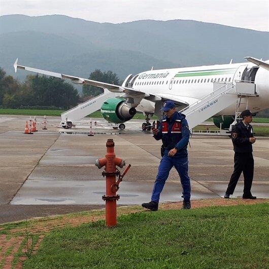 Yolcu uçağı Zonguldak'ta pistten çıktı