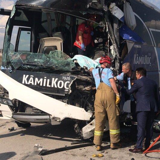 Susurluk'ta yolcu otobüsü kaza yaptı: Yaralılar var