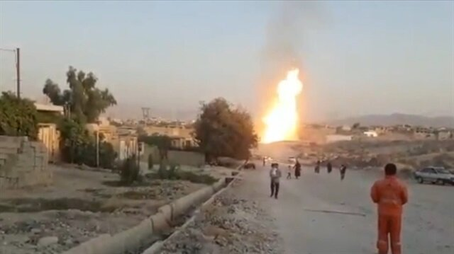 İran'da doğalgaz boru hattında patlama