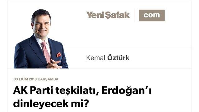 AK Parti teşkilatı, Erdoğan'ı dinleyecek mi?