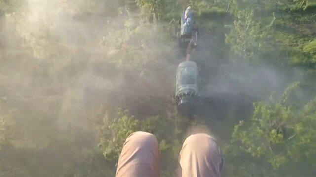 Çiftçiye selam vermek isteyen paraşütçü 15 metre yere çakıldı