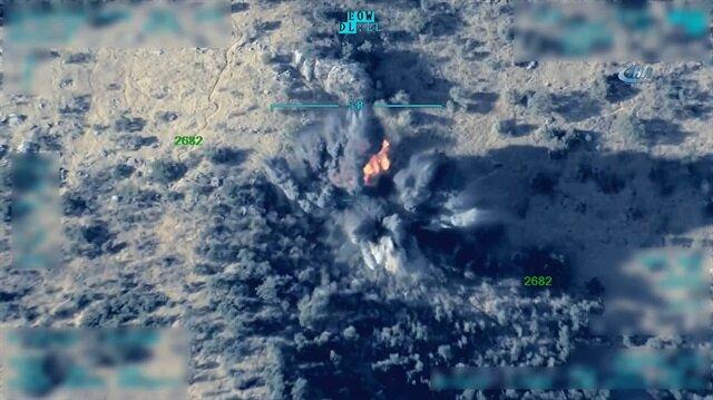TSK, Kuzey Irak'a düzenlenen hava harekatlarının görüntülerini paylaştı