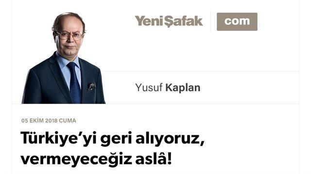 Türkiye'yi geri alıyoruz, vermeyeceğiz aslâ!