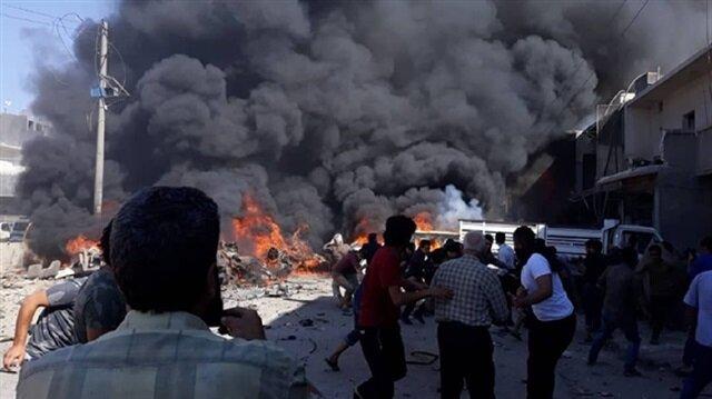 A powerful blast rocks the northern Syrian city of Azaz