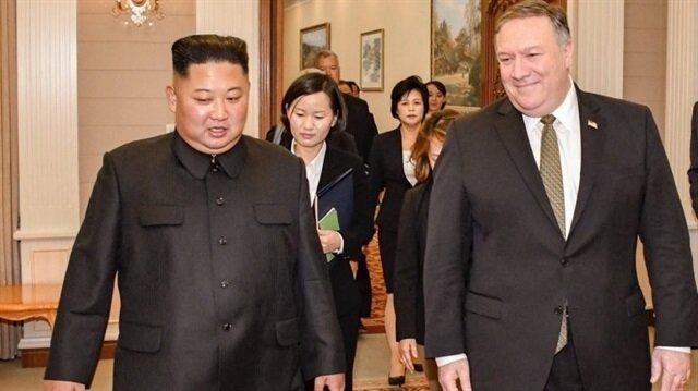 Pompeo Kuzey Kore lideri Kim ile görüştü