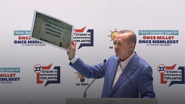 Erdoğan CHP'yi gazete küpürleriyle vurdu!