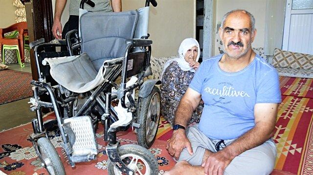 Engelliye ait tekerlekli sandalyenin aküsü çalındı