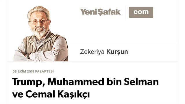 Trump, Muhammed bin Selman ve  Cemal Kaşıkçı