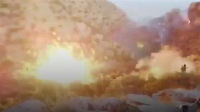 PKKnın barınak ve sığınakları patlatıldı