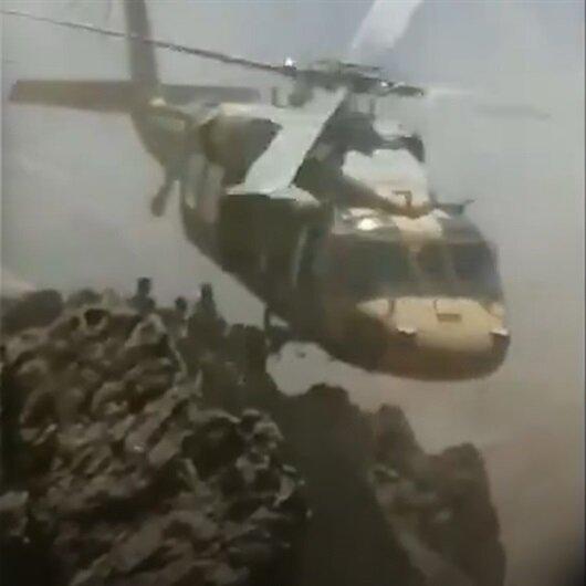 Kahraman pilotlardan 3000 metre rakımda tahliye