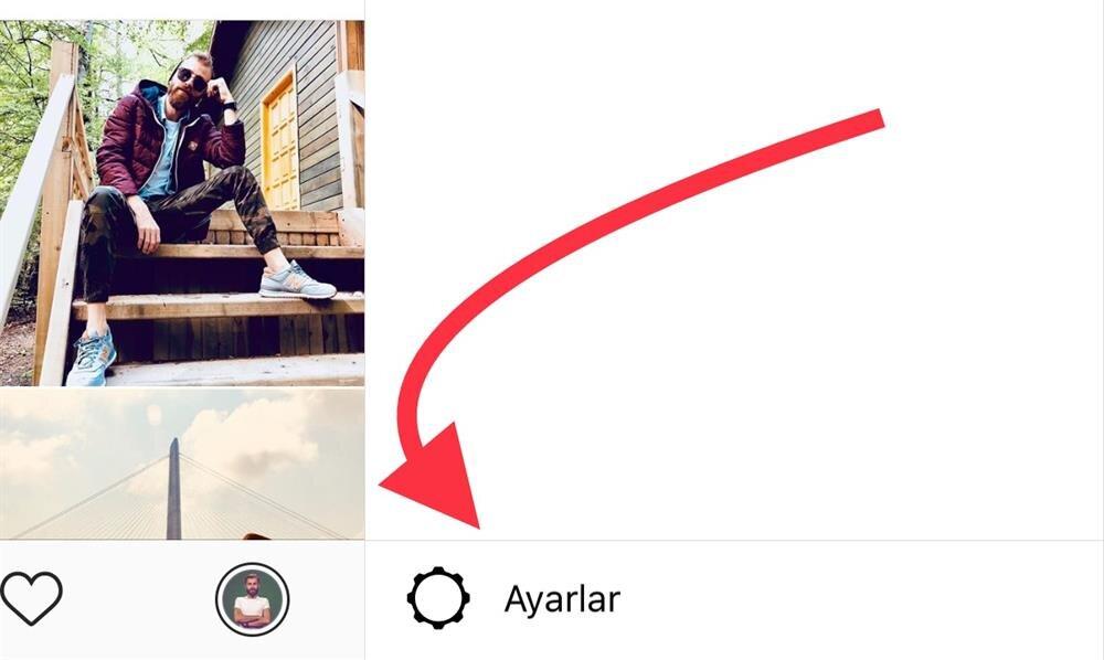 Instagram'da öncelikle Ayarlar kısmına erişmek gerekiyor.