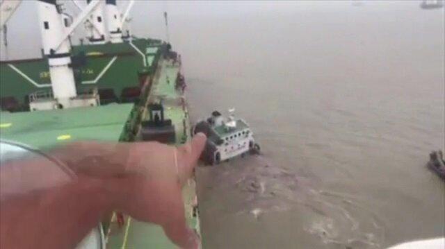 Batan gemidekilerin yardımına Türk mürettebat koştu