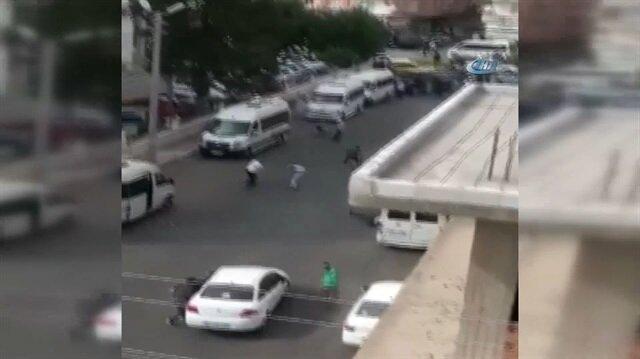Dolmuş şoförlerinin silah ve bıçaklı 'yolcu' kavgası
