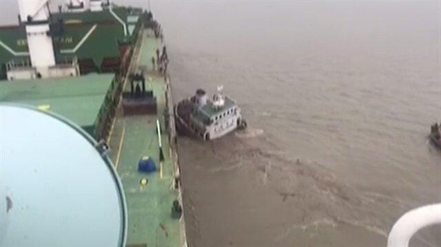Türk gemisine çarparak batan Tayvan gemisine ait görüntüler ortaya çıktı