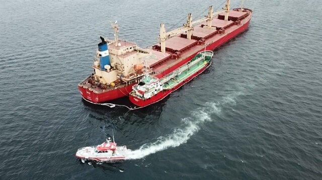 Yenikapı açıklarında iki gemi sürtüştü
