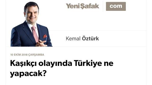 Kaşıkçı olayında Türkiye ne yapacak?