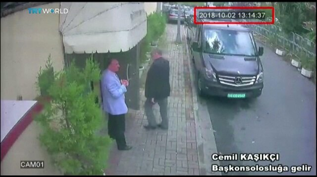 Footage shows Saudi journalist walking into consulate before disappearing