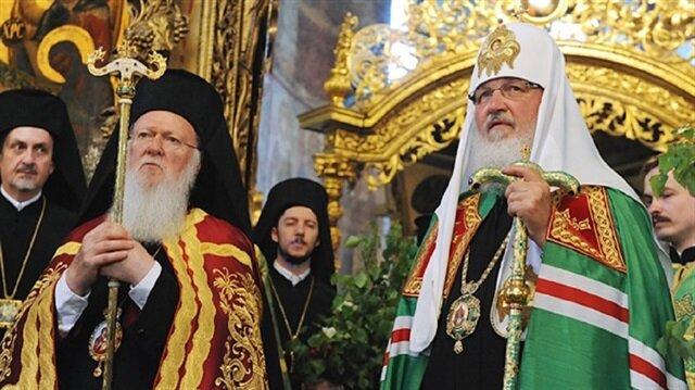 Fener Rum Patriği Bartholomeos ve Rusya Ortodoks Kilisesi Patriği Kirill