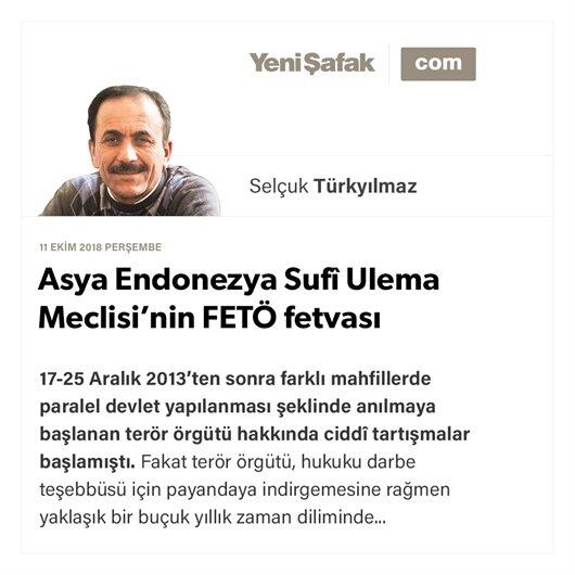 Asya Endonezya Sufî Ulema Meclisi'nin FETÖ fetvası