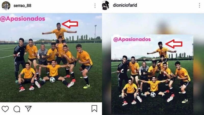 Rodriguez, Serrao'nun yerine fotoğrafta kendini monte etti.