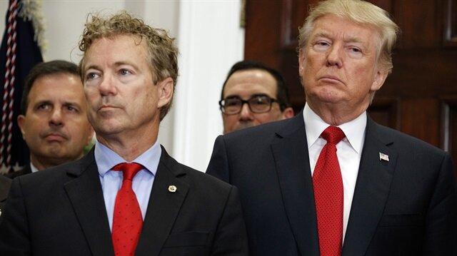 ABD Kentucky Senatörü Rand Paul ve ABD Başkanı Donald Trump