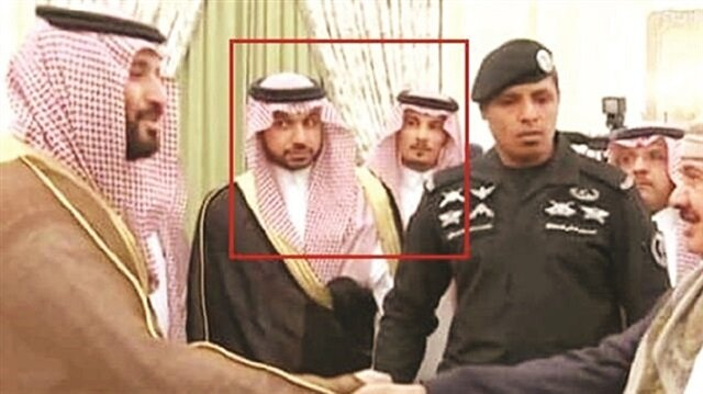 Saudi Arabian Crown Prince Mohammed bin Salman can be seen with Muhammed Saad H. Alzahrani and Thaar Ghaleb T. Alharbi in the background.
