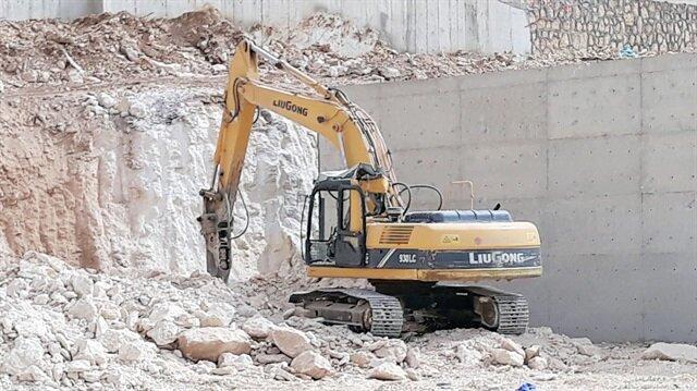 Şanlıurfa'da inşaat sahasında unutulan dinamit patladı