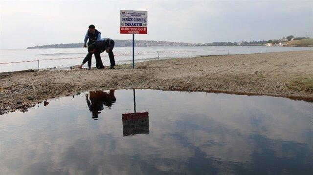 Yaklaşık 100 metrelik alan şerit içine alınarak vatandaşlar uyarıldı.