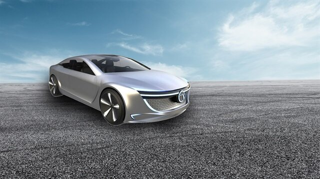Vestel'in tescilini aldığı 'VEO' marka elektrikli otomobile ait tasarım çalışması