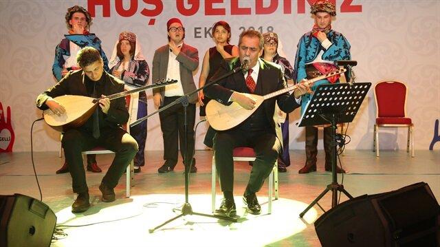 Yavuz Bingöl'ün seslendirdiği türküye down sendromlu gençler eşlik etti.