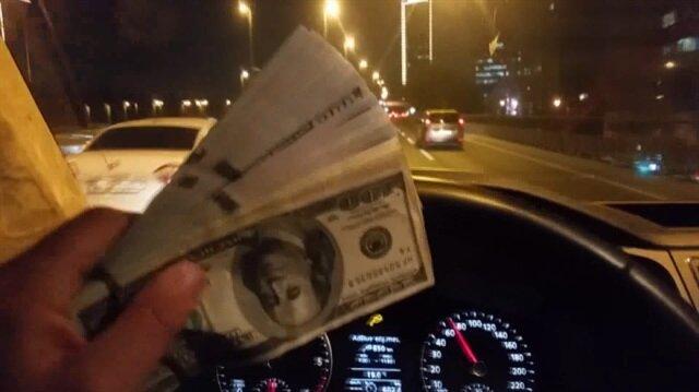 UBER şoförü: Dolarları sahibine teslim etmeden bu gece bana haram