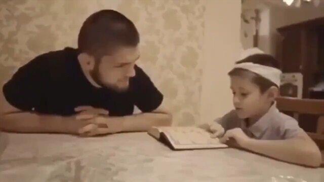 Şampiyon boksör Nurmagomedov Kur'an dersi veriyor