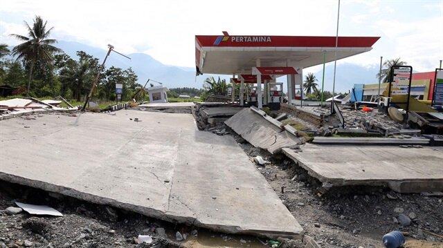 Endonezya'daki felaket havadan görüntülendi