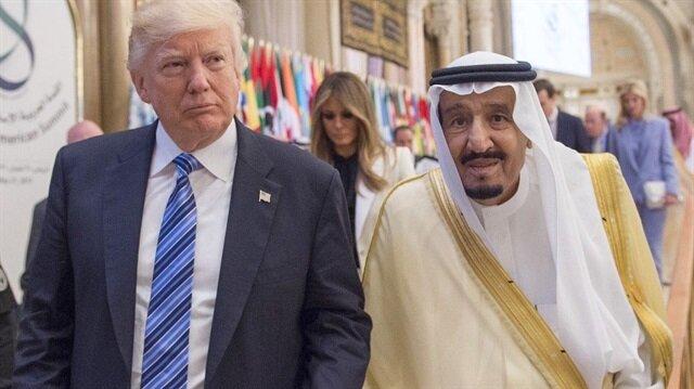 ABD Başkanı Donald Trump ve Suudi Arabistan Kralı Selman