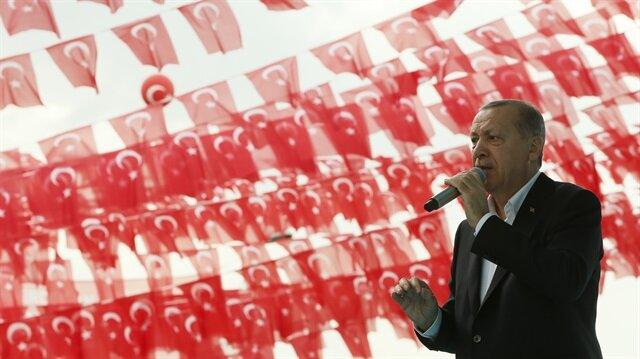 Cumhurbaşkanı Erdoğan, Kayseri'deki vatandaşlara seslendi.