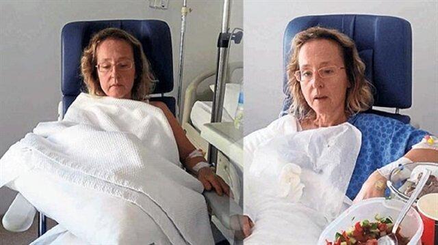 Alçıyla gittiği hastanede kolundan oldu