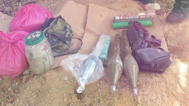 PKK'lı teröristlerce gizlenmiş çok sayıda mühimmat ele geçirildi.