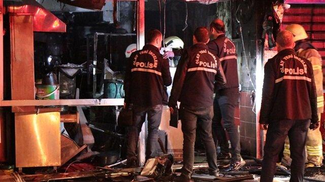 İtfaiye ekipleri olay yerine gelerek yangına müdahalede bulundu.