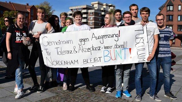 Almanya'da cami saldırısı protesto edildi