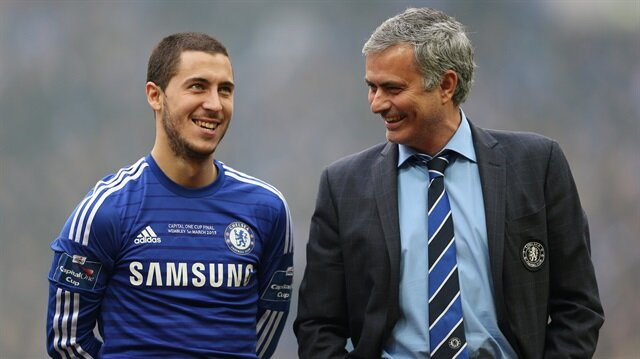 Hazard ile Mourinho Chelsea'de iki sezon birlikte çalışmışlardı.