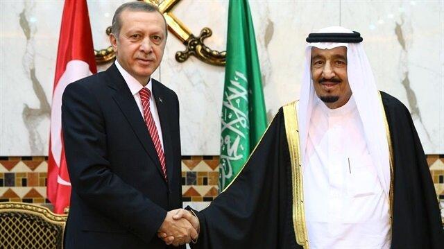 Cumhurbaşkanı Erdoğan ve Suudi Arabistan Kralı Selman