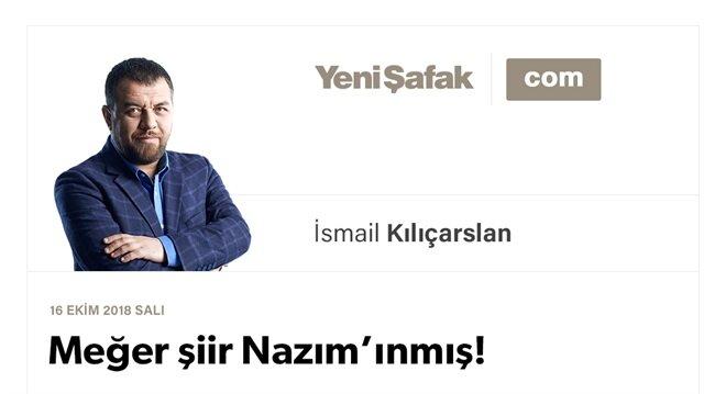 Meğer şiir Nazım'ınmış!