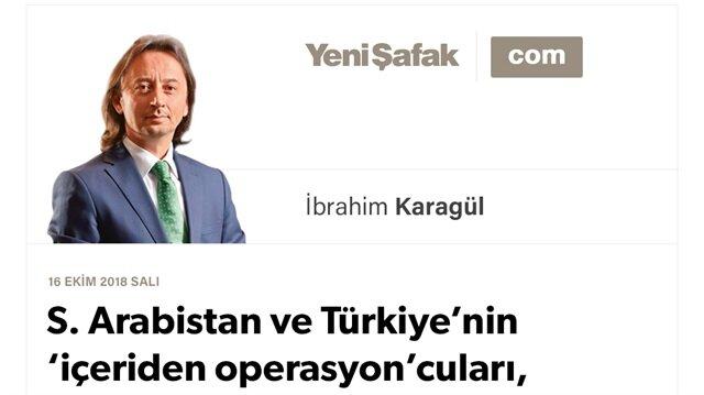 S. Arabistan ve Türkiye'nin 'içeriden operasyon'cuları, Rus uçağı düşürülmesi örneği Kaşıkçı olayı bölgede yeni cepheler açma plânı mı? Uyanın, hepimiz aynı gemideyiz
