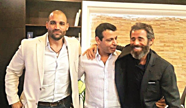 Isaac Gilmore (L), Mohammed Dahlan (C), and Abraham Golan (R)