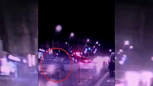 Polisi aracıyla metrelerce sürükleyip kaçtı!