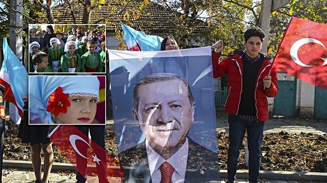 Erdoğan'a Gagavuzya'da coşkulu karşılama