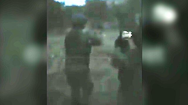 Gri listedeki iki teröristin öldürüldüğü çatışma anları kamerada